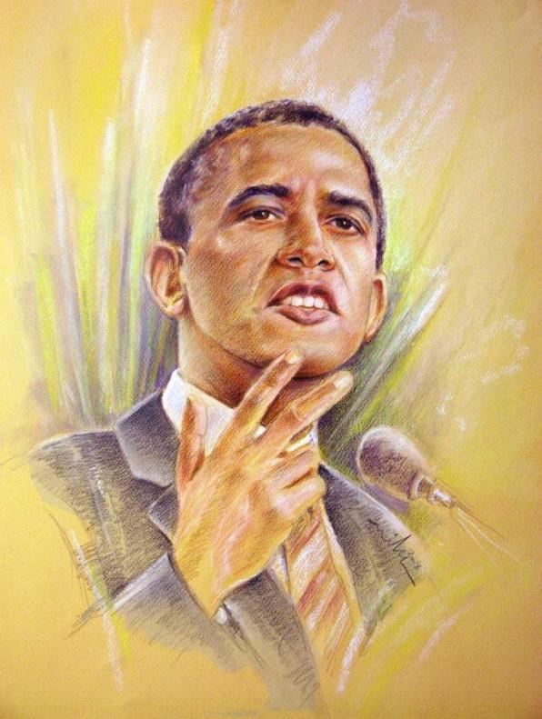 Portrait de Barack Obama: Oui, Nous Pouvons!
