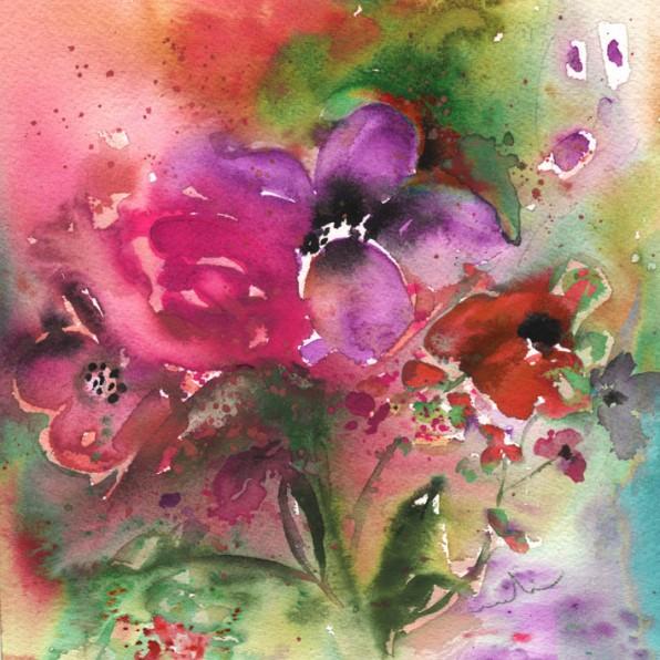 Fleurs Sauvages en Peinture