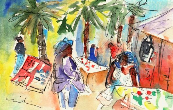 Lanzarote en Peinture: Le Marché de Teguise
