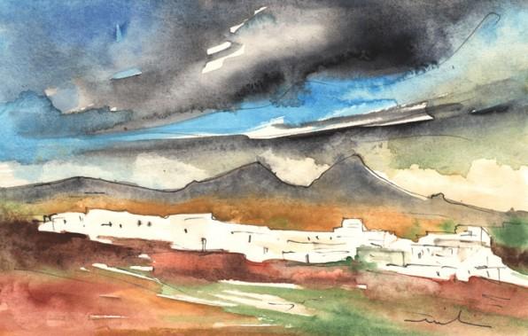 Lanzarote en Peinture: Paysages Typiques