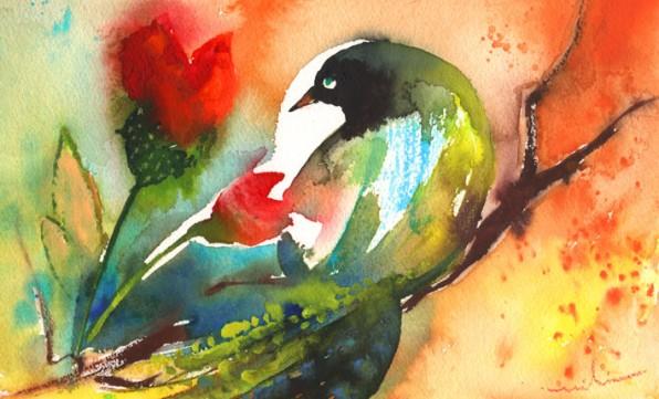 Oiseaux et Fleurs de Paradis