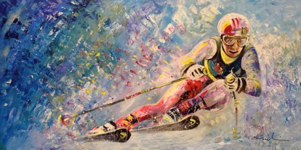 Le Ski En Peinture