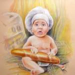 Le Bébé a La Baguette