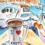 Pause-café à Heraklion en Crète