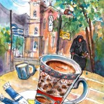 Pause-café à Neapoli en Crète