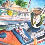 Pause-café à Sitia en Crète