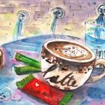 Pause-café à Spili en Crète
