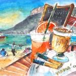 Pause-café à Stavros en Crète