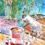 Pause-café à Vrisses en Crète