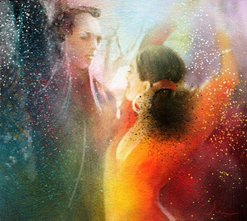 La danse en peinture tableaux tango et flamenco par miki - Scene di amore a letto ...