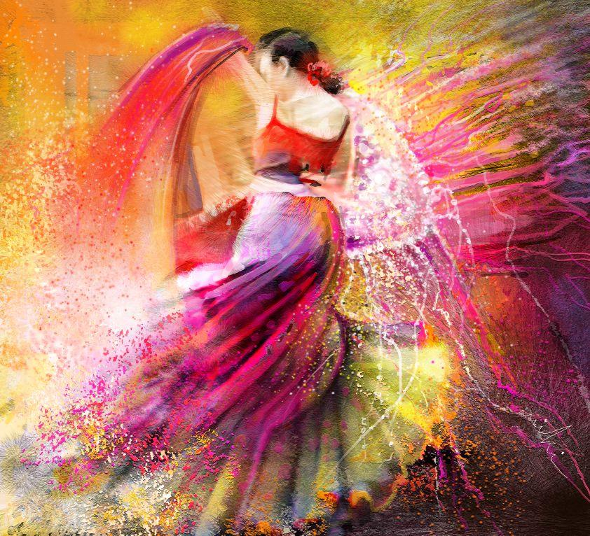 la danse en peinture tableaux tango et flamenco par miki de goodaboom. Black Bedroom Furniture Sets. Home Design Ideas