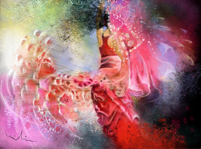 La Danse en Peinture -Tableaux tango et flamenco par Miki de Goodaboom