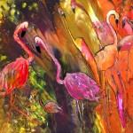 Flamingos des Dombes