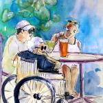 Handicapée au Café