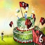 Gâteau d'Anniversaire pour Golfeurs