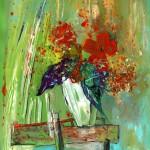 Bouquet dans Vase Blanc