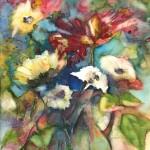 Bouquet dans Vase en Verre