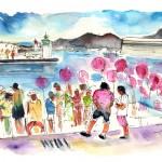 Fête Sur Le Catamaran à Carthagène