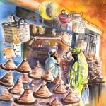Essaouira – Vendeur de Tajines