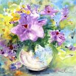Fleur Fantaisie Dans Vase Blanc