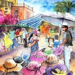 Turre – Vendeur de Chapeaux au Marché