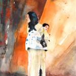 Femme Marocaine portant Bébé