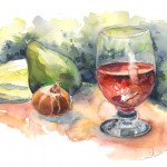 Verre de Vin et Poire