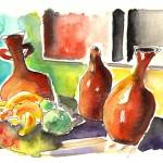 Vases et Fruits à Tenerife