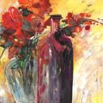 Nature Morte avec Vase et Bouteille