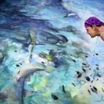 Homme et requins