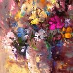 Bouquet de Fleurs Sauvages dans Pot de Terre