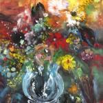 Fleurs Sauvages dans Vase en Verre