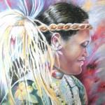 Femme de Polynésie