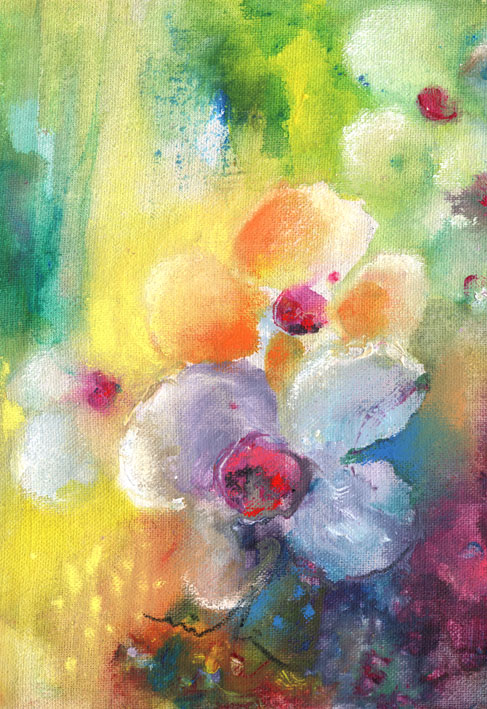 Fleurs Acrylique Tableaux Par Miki De Goodaboom
