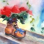 Nature Morte avec Poinsettia et Chaussure