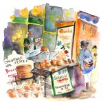 Vendeur de fromage à Syracuse