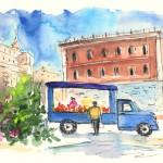 Vendeur de fruits à Palerme