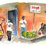 Vendeurs Ambulants à Syracuse