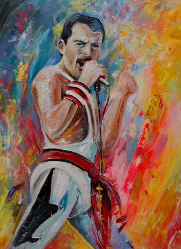 Freddie Mercury en Peinture