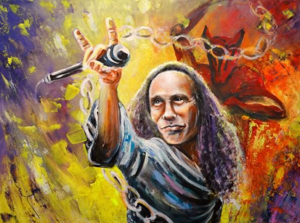 Ronnie James Dio en Peinture